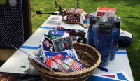 Basket of exciting memorabilia that you can bid on at our fundraisers