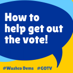 Banner for Getting out the vote