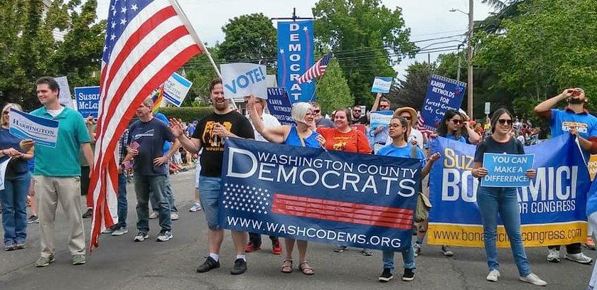 WashCo Dems at the Hillsboro 4th of July Parade