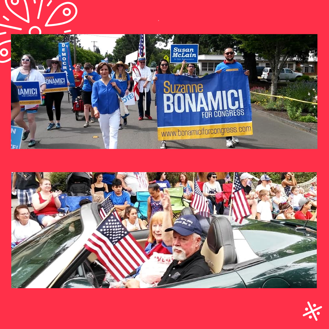 WashCoDems 4th of July 2018 Oregon representatives