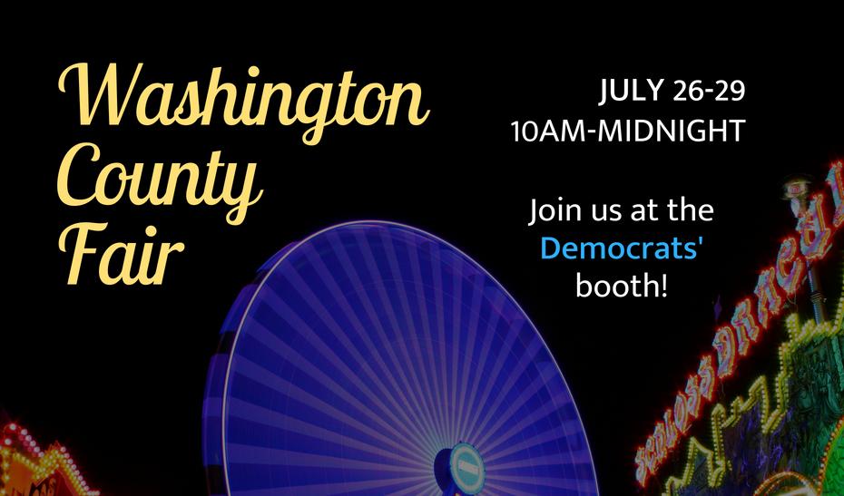 The 2018 Washington County Fair with the WashCo Dems