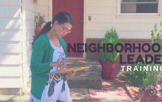 Neighborhood Leader approaching a house