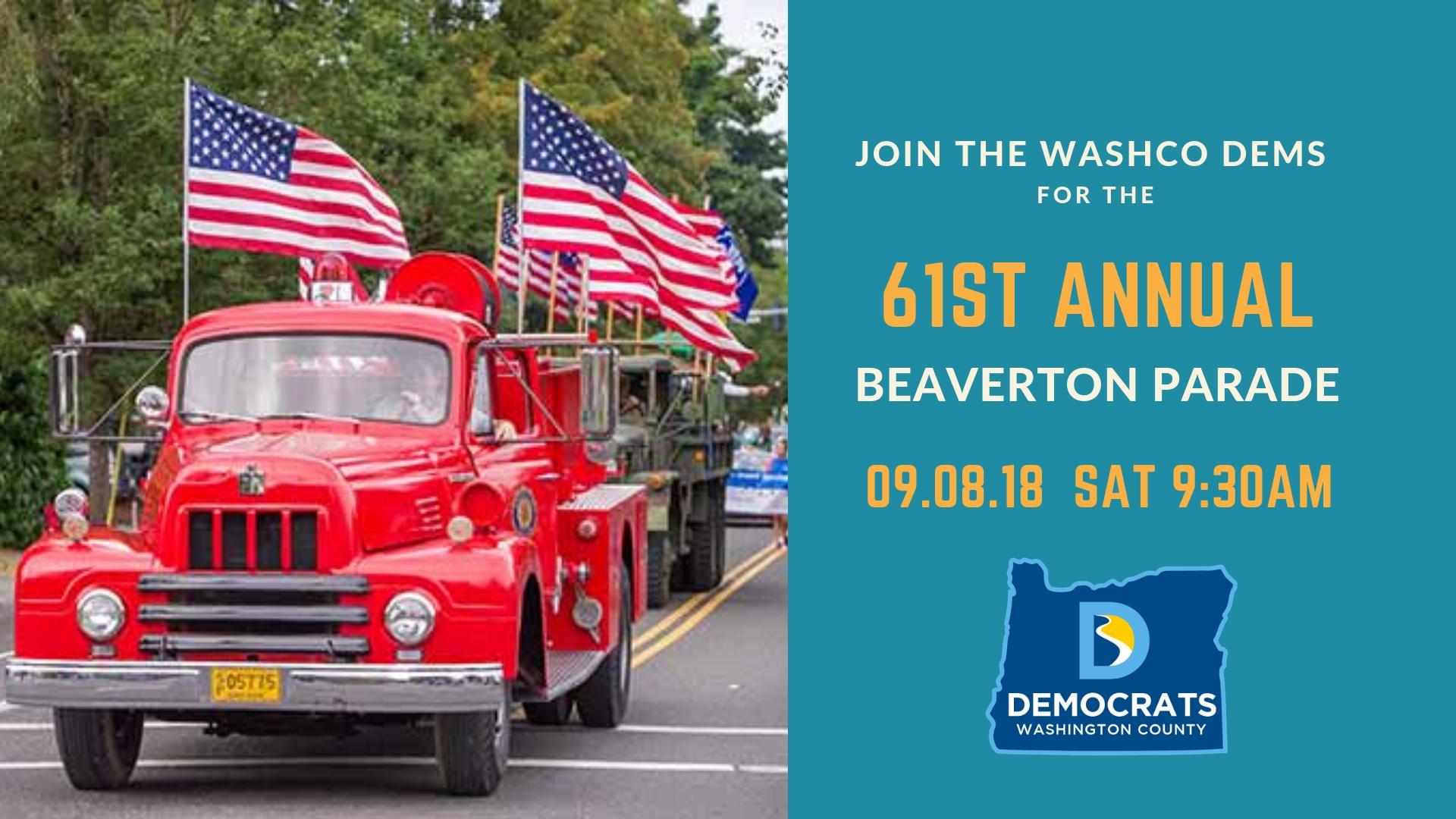 WashCo Dems at the Beaverton Parade 2018