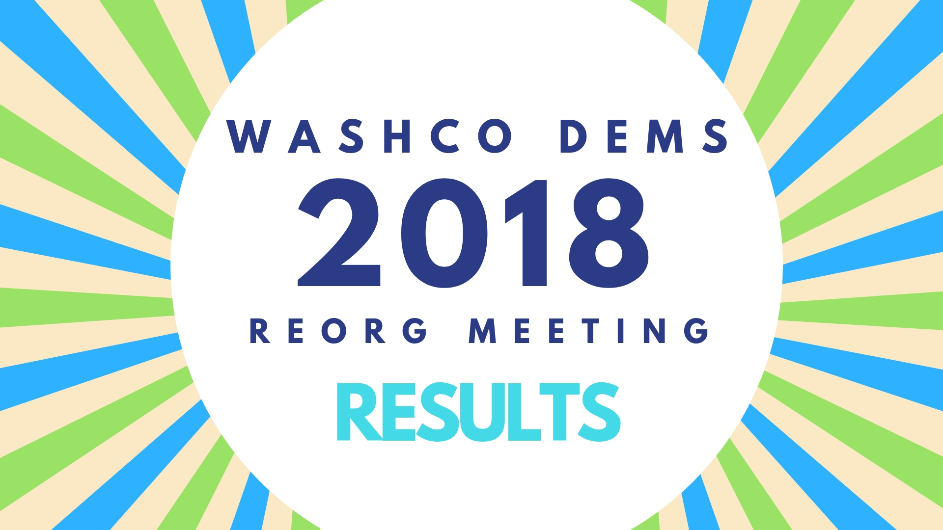 Washington County Democrats: 2018 Reorganization Meeting Voting Results
