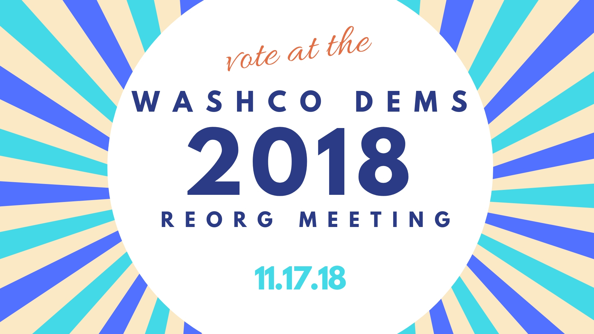 WashCo Dems 2018 Organizational Meeting