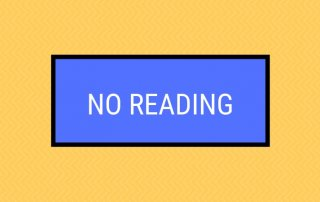 no reading let's the user know content will not be uploaded for this meeting