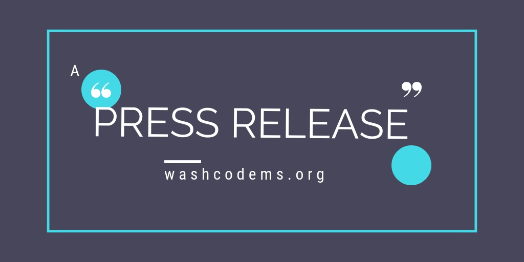 CANCELED: Washington County Democrats Press Release: Democrats of Washington SpringFest Fundraiser Featuring The Secretary of State Candidates' Forum