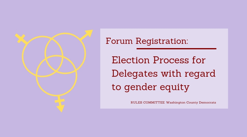 forum for the election process of delegates with regard to gender equality promotional poster