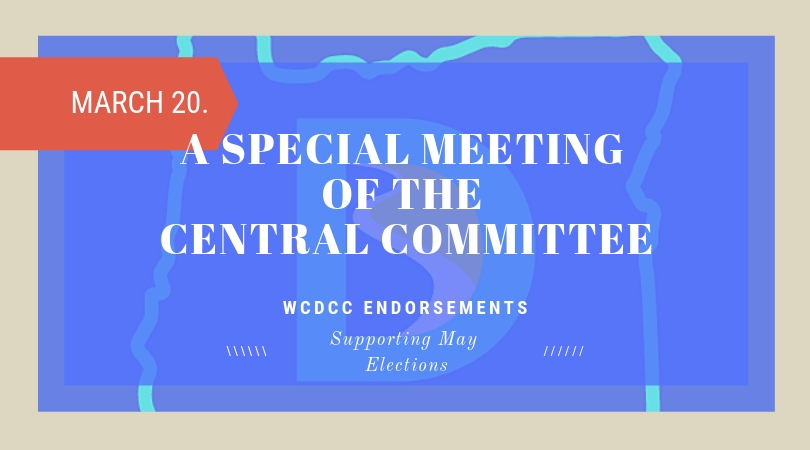 Special Meeting of the Central Committee – March 20th
