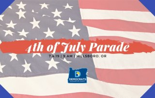 4th of july parade branded with american flag