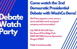July 2019 2nd Democratic Debate Watch Party