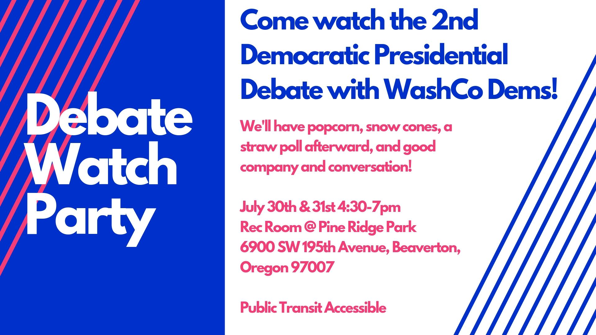 2nd Democratic Debate Watch Party