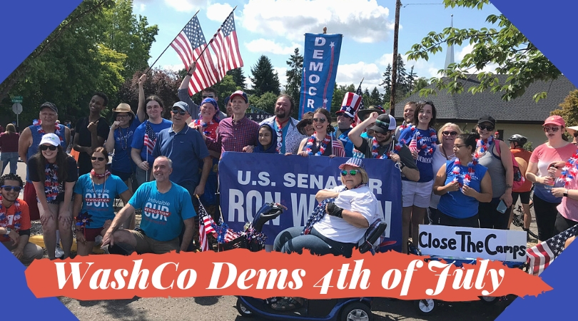group photo with washington county democrats and senator ron wyden