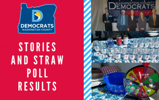 Pictures of the WashCo Dems Fair Booth