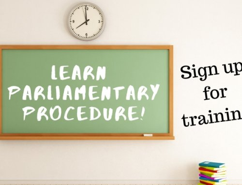 ONLINE TRAINING: Parliamentary Procedures – SEP 16th