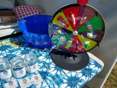 Candy Wheel the WashCo Dems Booth