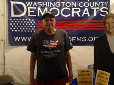 Volunteer the WashCo Dems Booth