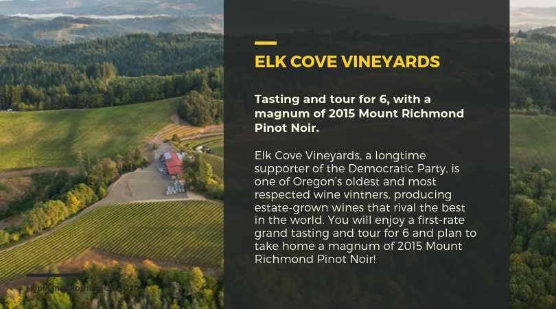 neuberger gala promo featuring elk cove vineyard