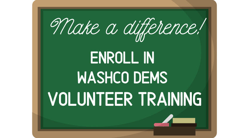 blackboard that says make a difference enroll in volunteer training