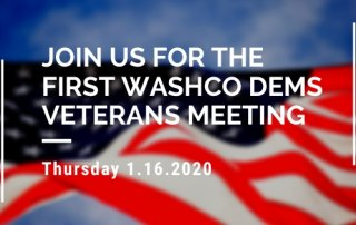 First WashCo Dems Veterans Meeting