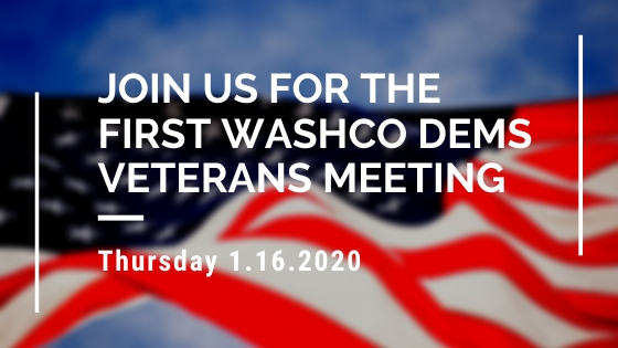 First WashCo Dems Veterans Outreach Meeting