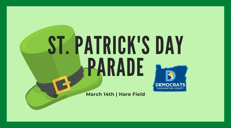 WashCo Dems at the St Patrick's Day Parade [CANCELED]