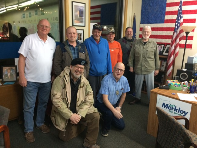 Photo of second meeting of the WashCo Dems Veterans