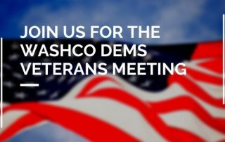 Join Us for the WashCo Dems Veterans Meeting