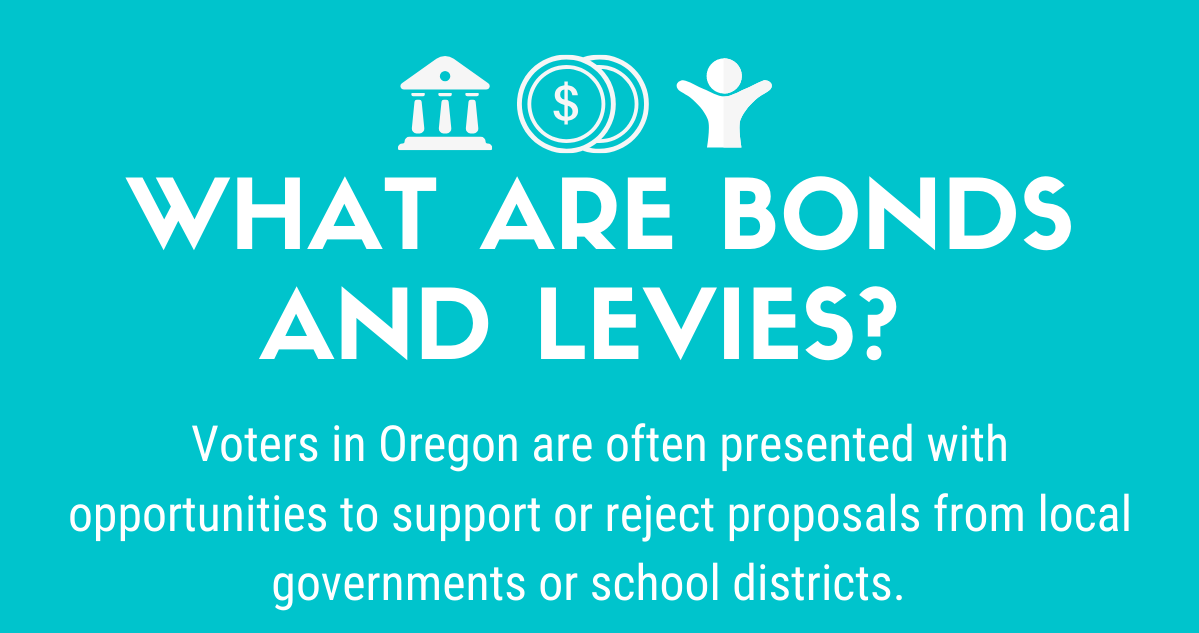 infographic thumbnail with information on bonds and levies