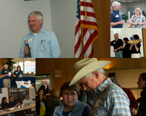 Collage of Doug Plambeck with friends