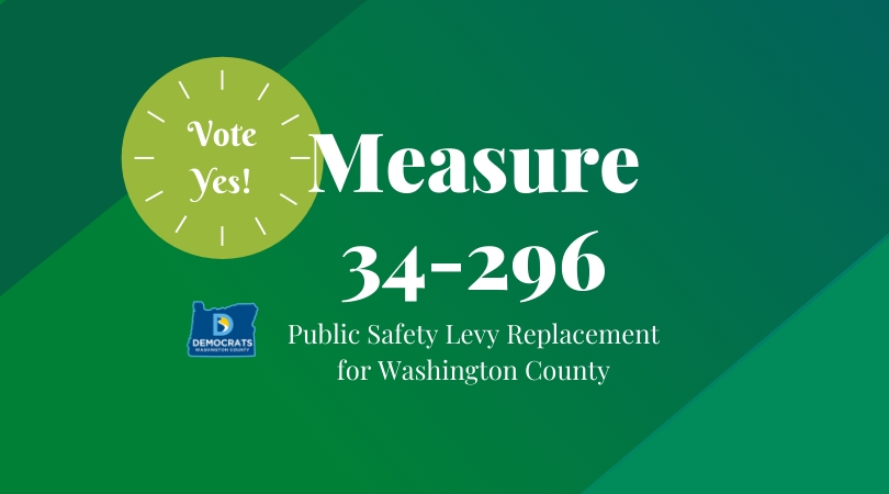 2020 levy measure with washco dems logo with lime and green background