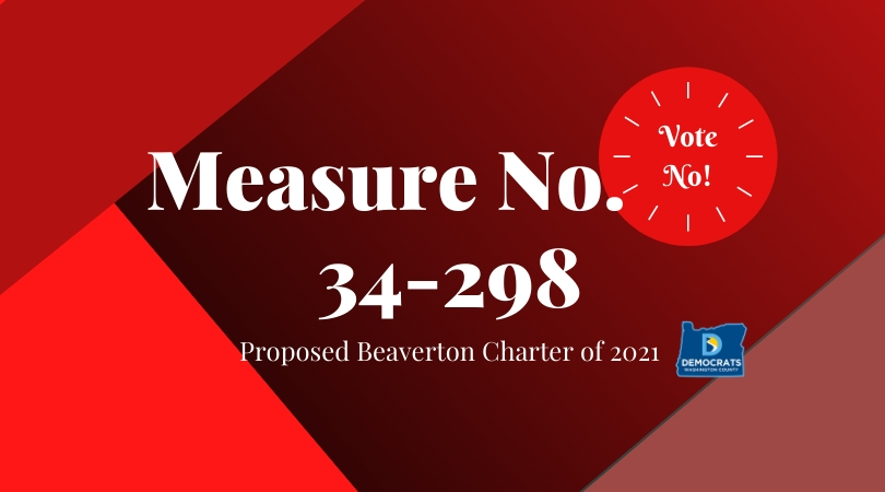 2020 levy measure with washco dems logo with red and maroon background