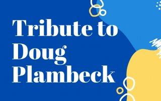 title image Doug Plambeck blue and yellow framing
