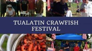 Collage of photos from Tualatin Crawfish Festival