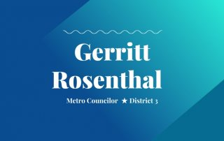 2020 primary candidate gerritt rosenthal with washco dems logo blue and teal background
