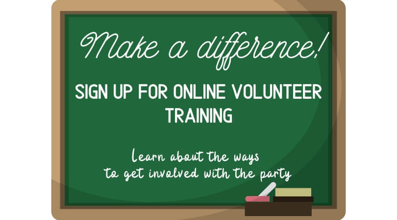 ONLINE TRAINING: Learn the Ways to Get Involved with the Party