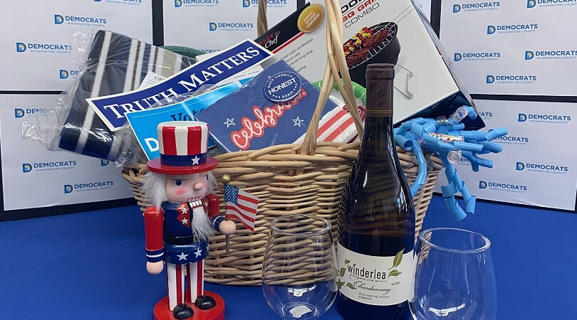 Basket with grill and other prizes