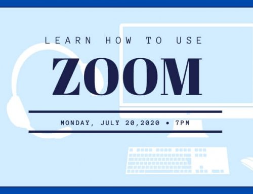 ONLINE TRAINING: Learn how to use Zoom: July 20th, 2020