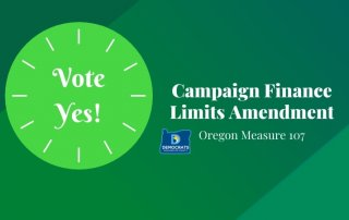 2020 measure with washco dems logo with lime and green background