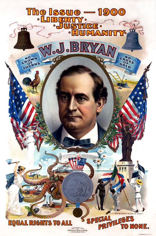 William Jennings Bryan campaign poster 1900
