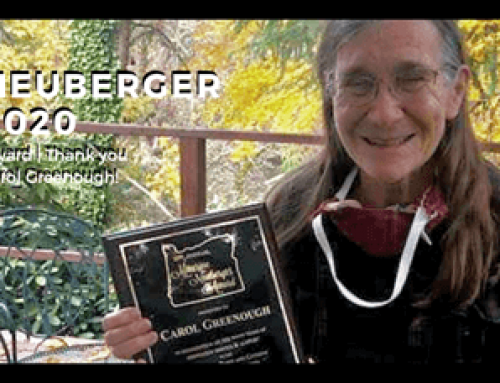 Interview with 2020 Maurine Neuberger Award Winner Carol Greenough
