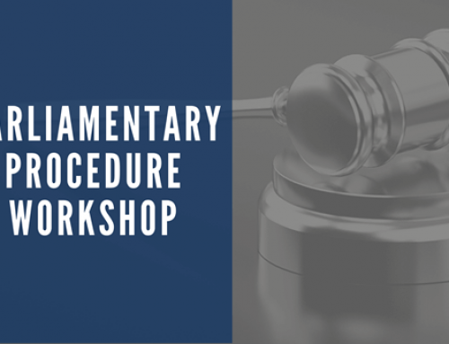 ONLINE TRAINING: Parliamentary Procedures Workshop – NOV 12th