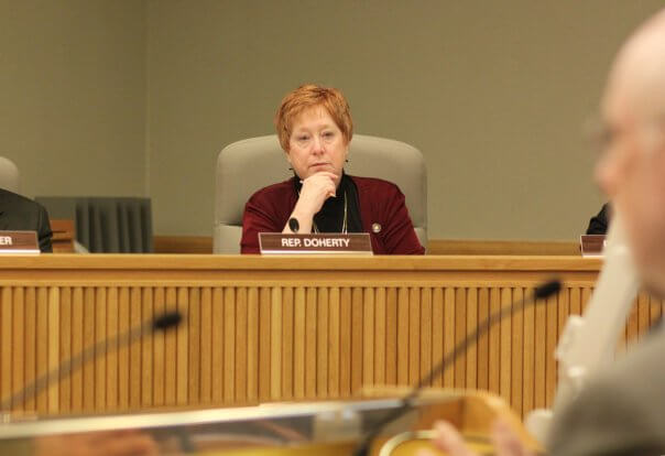 Picture of Rep. Margaret Doherty listening in committee
