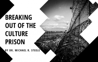 Breaking Out of the Culture Prison by Dr. Michael R. Steele - a long line of razor-wire fence