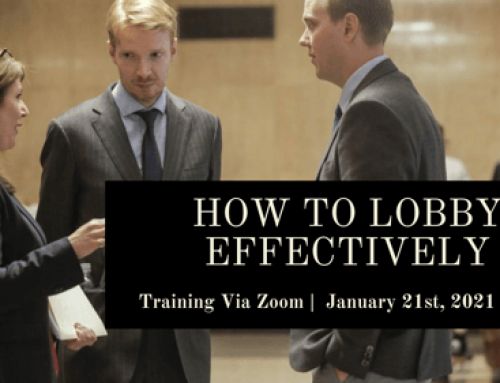 ONLINE TRAINING – Advocacy: How to Lobby Effectively (Jan 21st)