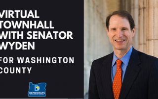 Sen. Ron Wyden smiling in front of a government building
