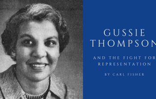 portrait black and white of Gussie Thompson
