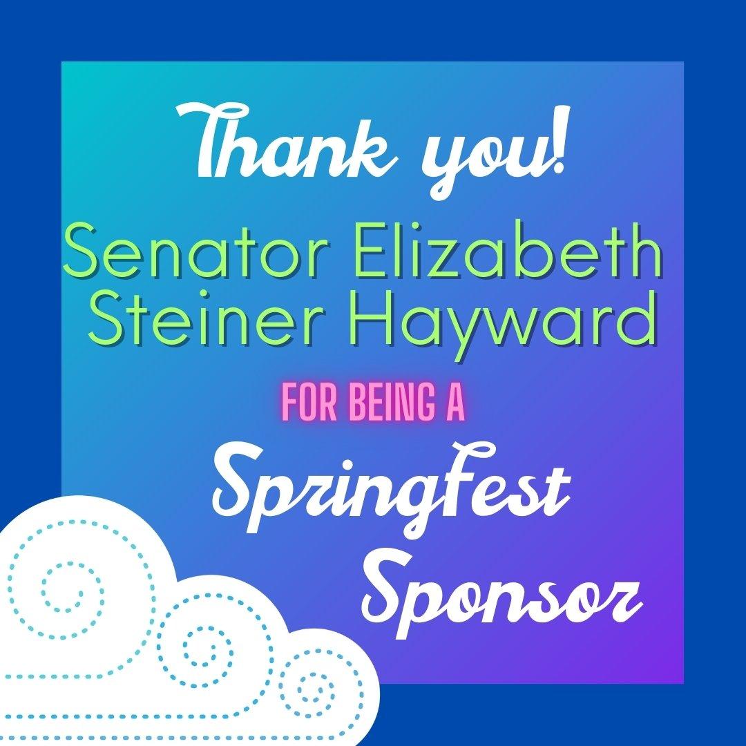 sponsor elizabeth steiner hayward with the springfest illustrated cloud