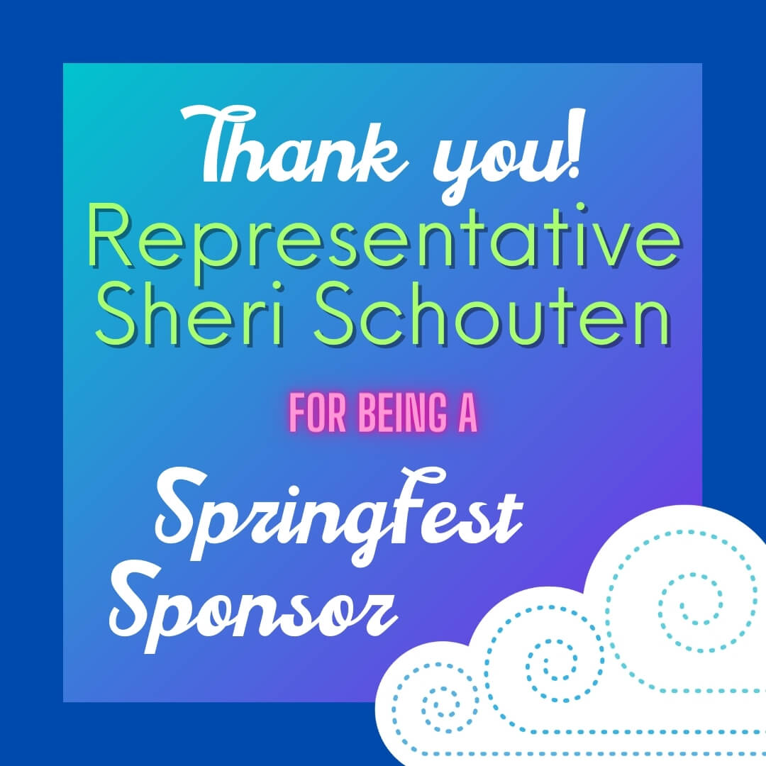 sponsor sheri schouten with the springfest illustrated cloud