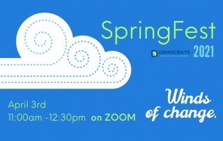 blue background illustration with whispy cloud ad winds of change tagline